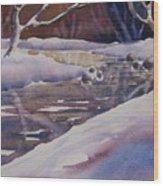 Winter Creek Wood Print