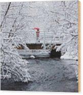 Winter Crossing Wood Print
