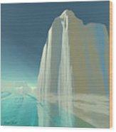 Winter Crystal Wood Print