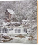 Winter Day At The Mill  Wood Print