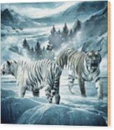 Winter Deuces Wood Print by Lourry Legarde