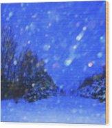 Winter Diamonds Wood Print by Julie Lueders