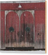 Winter Doors Wood Print