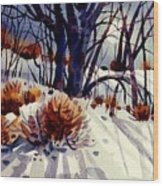 Winter Drifts Wood Print