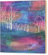 Winter Embraces Spring Wood Print