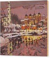 Winter Eve Wood Print
