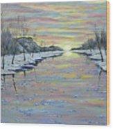 Winter Expression Sunrise Wood Print