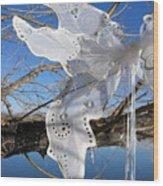 Winter Fairy Wings Wood Print