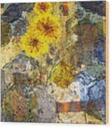 Winter Flowers Wood Print