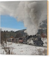 Winter Freight Special Wood Print