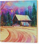 Winter Getaway Wood Print