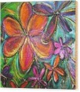 Winter Glow Flower Painting Wood Print