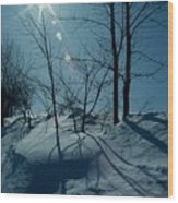 Winter Glow Wood Print