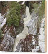 Winter Gorge Wood Print