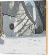 Winter Holiday At The Farm. Wood Print