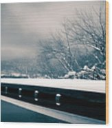 Winter Idyl Wood Print