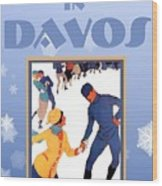 Winter In Davos Wood Print