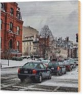 Winter In D.c. Wood Print by Jimmy Ostgard