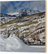 Winter In East Vail Wood Print