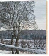 Winter In England, Uk Wood Print