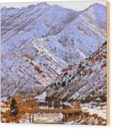 Winter In Grand Junction Wood Print
