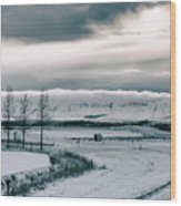 Winter In Iceland Wood Print