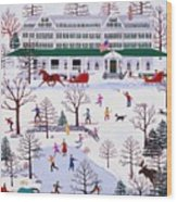 Winter In Jackson New Hampshire Wood Print