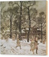 Winter In Kensington Gardens Wood Print