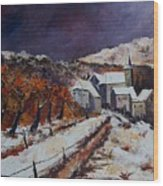 Winter In Luxembourg Wood Print