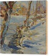 Winter In Mat Wood Print