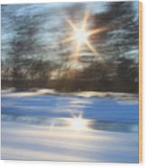 Winter In Motion Wood Print