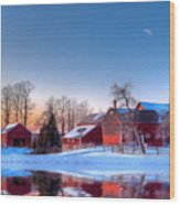 Winter In New England Wood Print by Michael Petrizzo