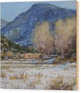 Winter In New Mexico Wood Print