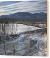 Winter In North Conway Wood Print by Eric Gendron