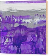 Winter In Purple And Silver Wood Print