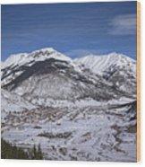 Winter In Silverton Colorado Wood Print