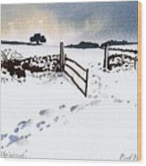 Winter In Stainland Wood Print