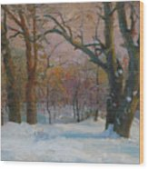 Winter In The Wood Wood Print