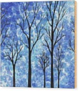 Winter In The Woods Abstract Wood Print