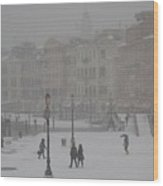 Winter In Venice Wood Print