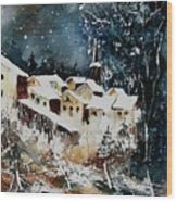 Winter In Vivy  Wood Print