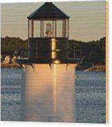 Winter Island Lighthouse At Sunset, Salem, Massachusetts Wood Print