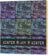 Winter Joy Wood Print