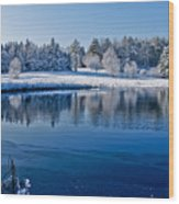 Winter Lake Scene 2 Wood Print