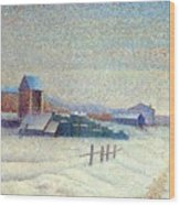 Winter Landscape 1885 Wood Print