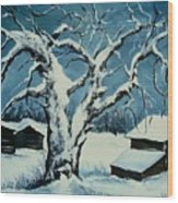 Winter Landscape 571008 Wood Print