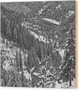 Winter Landscape In Giurgeu Mountains Wood Print
