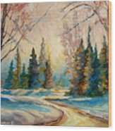 Winter Landscape Knowlton Quebec Wood Print