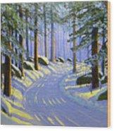 Winter Landscape Study 1 Wood Print