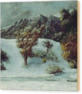 Winter Landscape With The Dents Du Midi Wood Print by Gustave Courbet